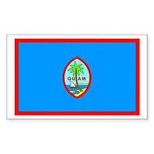 Guam Rectangle Decal