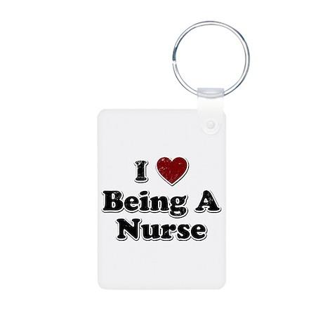 Distressed I Heart Being A Nurse Design Aluminum P