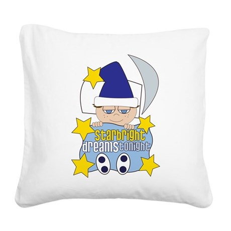 Starbright Square Canvas Pillow