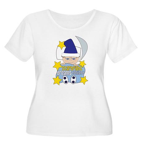 Starbright Women's Plus Size Scoop Neck T-Shirt