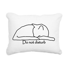 Do Not Disturb Rectangular Canvas Pillow