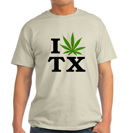I Love Cannabis Texas Light T-Shirt