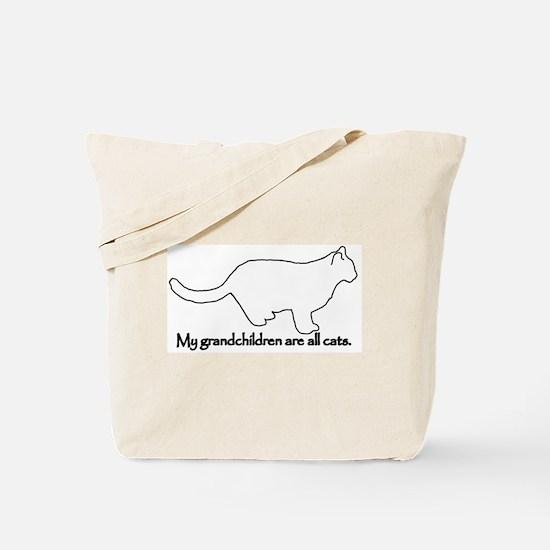Grandchildren are all Cats Tote Bag