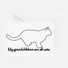 Grandchildren are all Cats Greeting Cards (Pk of 1