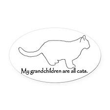 Grandchildren are all Cats Oval Car Magnet