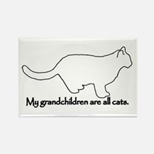 Grandchildren are all Cats Rectangle Magnet (10 pa