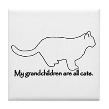 Grandchildren are all Cats Tile Coaster