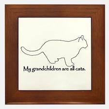 Grandchildren are all Cats Framed Tile