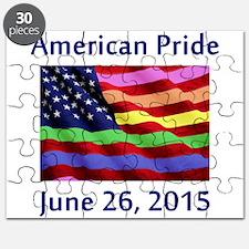 American Pride Flag with SCOTUS Decision Puzzle