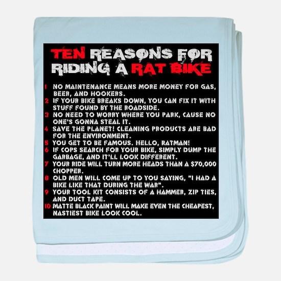 Ten reasons for riding a Rat Bike baby blanket