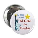 Al Gore 2008 Statue of Liberty Button
