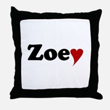 Zoey with Heart Throw Pillow
