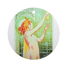 The Green Fairy - Absinthe Ornament (Round)