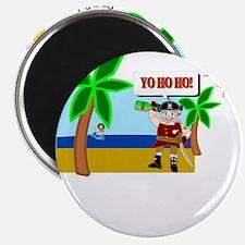 Pirate Santa sez YoHoHo Magnet