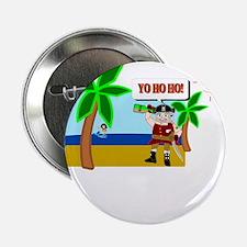 """Pirate Santa sez YoHoHo 2.25"""" Button"""