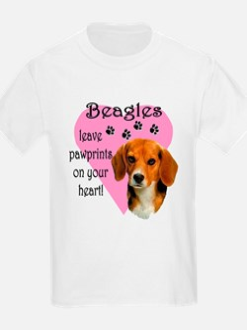 Beagle Pawprints 2 T-Shirt