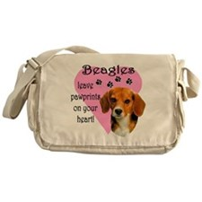 Beagle Pawprints 2 Messenger Bag