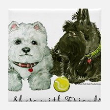 Funny Westhighland white terrier Tile Coaster
