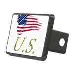 US flag e1 Rectangular Hitch Cover