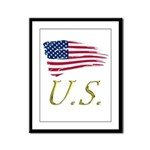 US flag e1 Framed Panel Print