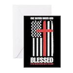 US flag e1 Return Address Labels