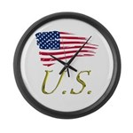 US flag e1 Large Wall Clock