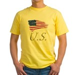 US flag e1 Yellow T-Shirt