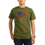 US flag e1 Organic Men's T-Shirt (dark)