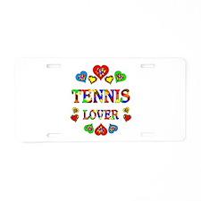 Tennis Lover Aluminum License Plate