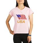 Flag of US e2 Performance Dry T-Shirt