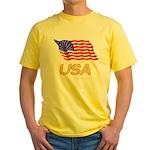 Flag of US e2 Yellow T-Shirt