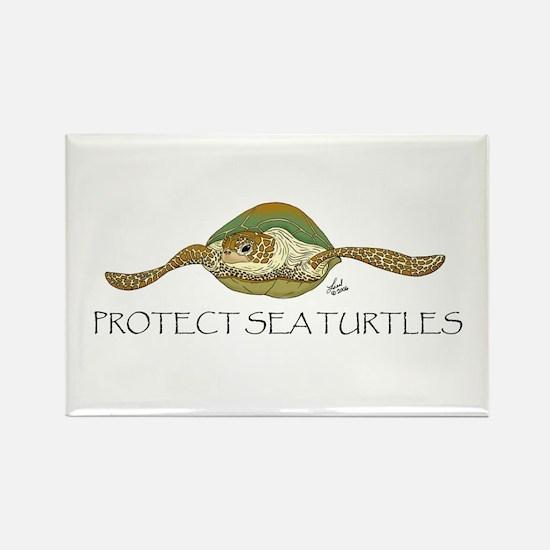 Sea Turtle Rectangle Magnet
