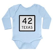 Texas 42 Long Sleeve Infant Bodysuit
