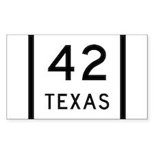 Texas 42 Decal