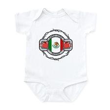 Hard Core Mexico Boxing Infant Bodysuit