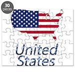US flag map e3 Puzzle