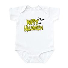 Yellow Happy Halloween Infant Bodysuit