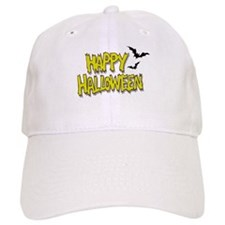Yellow Happy Halloween Baseball Cap