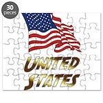 Waving US flag e3 Puzzle