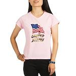Waving US flag e3 Performance Dry T-Shirt
