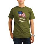 Waving US flag e3 Organic Men's T-Shirt (dark)