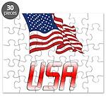 Waving US flag e2 Puzzle