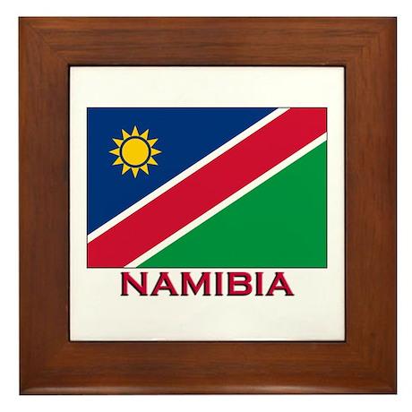 Namibia Flag Stuff Framed Tile