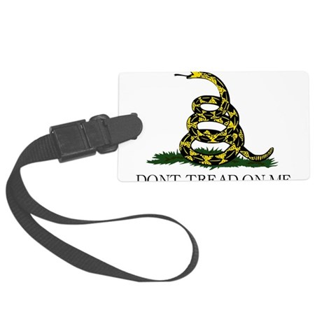 Gadsden flag e1 Large Luggage Tag