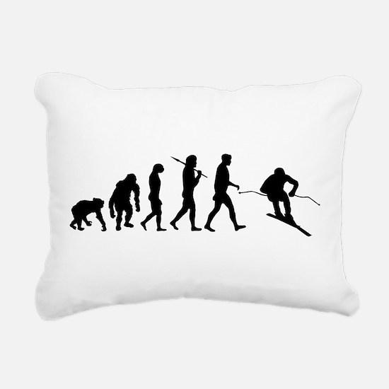 Downhill Skiing Rectangular Canvas Pillow