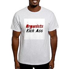 Organists Kick Ass Ash Grey T-Shirt