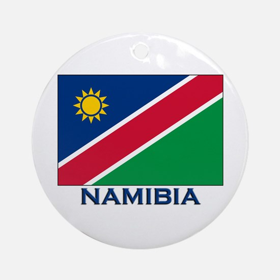 Namibia Flag Merchandise Ornament (Round)