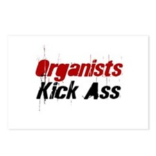 Organists Kick Ass Postcards (Package of 8)