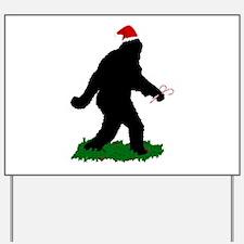 Christmas Squatchin Yard Sign