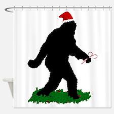 Christmas Squatchin Shower Curtain